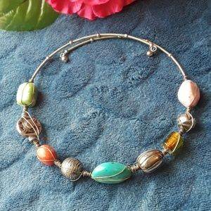 BEAUTIFUL VTG WIRE WRAPPED NECKLACE